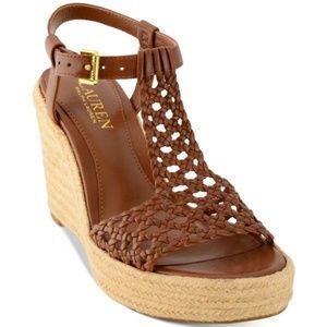 Lauren Ralph Lauren Hailey Wedges Sandal Leather